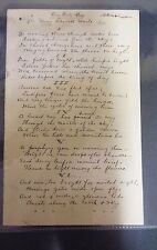 Henry Randall Waite - Day Unto Day - Signed Manuscript