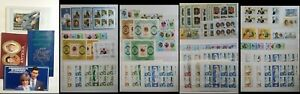 1981 Royal Wedding Commonwealth MS Stamps & Booklets Charles & Diana Pics in Des