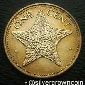 Bahama Islands 1 Cent 1980. KM#59. One Penny Coin. Starfish. Bahamas 🌟