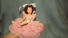 "Vintage Fortune Toys 7"" Petite Flower Girl Doll Sleep Eyes"