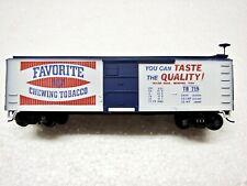 "HO Scale Train Miniature 40' Billboard ""Favorite Chewing Tobacco"" Box Car"