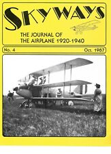 Skyways Magazine No.4 Oct.1987 Curtiss Triplane Ford Triplane XB 906 Air Mail