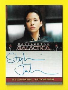 2009 Battlestar Galactica Season 4 Autograph Stephanie Jacobsen as Kendra Shaw