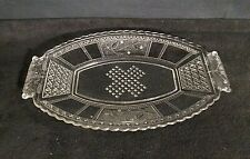 EAPG Bryce Brothers REGAL Clear Paneled Forget Me Not Handled Relish Dish 1883