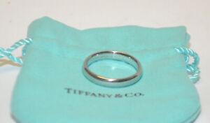 Men's Tiffany & Co Classic Platinum Wedding Band (4mm) Size 10.5