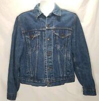 Vintage Levis Denim Jacket 42R Dark Wash Denim Made In USA 70506-0216 WPL 423