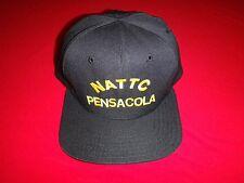 US Navy NATTC Naval Air Technical Training Center PENSACOLA Black Cotton Hat