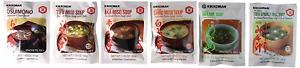 Kikkoman Instant Soup 6 Variety Pack - Miso-tofu , Tofu- Spinach Soup, Shiro , ,