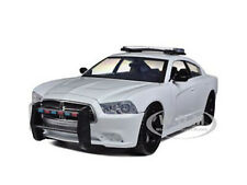 DODGE CHARGER PURSUIT UNMARKED WHITE POLICE CAR 1/24 DIECAST BY MOTORMAX 76934
