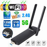 USB WLAN Adapter 1200 MBit Dual Band WiFi Adapter LAN Netzwerk USB Stick
