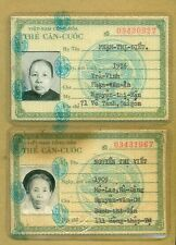 Vietnam War ID Card 1969 Pair #7
