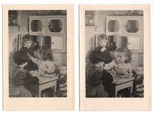 PHOTO Classe de Maternelle 1950 École Écolier Poupée Cuisine Repas Dinette