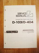 Luxman D-103/D-404  Service Manual