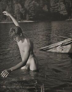 1988 Vintage BRUCE WEBER Male Nude TOM Adirondack Park Photo Gravure Art 12X16