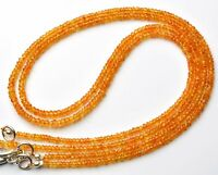 """Natural Gem Super Quality Songea Sapphire Faceted Rondelle Beads Necklace 16.5"""""""
