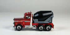 Matchbox Peterbilt Cement Mixer Metallic Dark Red Cab No Package