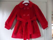 manteau fille 2ans - 3ans en velours rouge marque feu follet