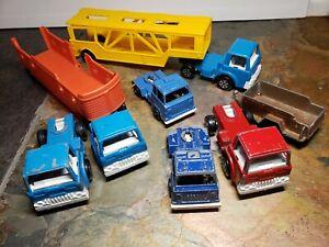 1970 Tootsie Diecast Toy Trucks Lot of 9