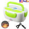 Green Portable 12V Car Plug Electric Lunch Box Heated Food Heater Warmer US Ship
