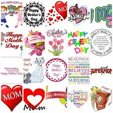mother days iron on T Shirt heat Transfer diy mom hearts free postage