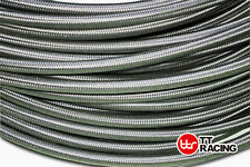 """AN4 4-AN AN-4 6mm 1/4"""" STAINLESS STEEL BRAIDED OIL FUEL LINE HOSE 1M 3.3FT"""