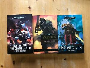 3 Black Library Warhammer 40k novels Shadowbreaker Mephiston City Imperial Creed