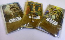 3 PCs of Olive Wood Cross & Christian Picture & Holy Earth, Bethlehem Jerusalem