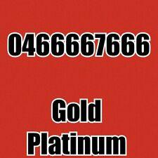 Gold/Platinum Mobile Number 0466666766