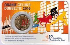 NEDERLAND: GELUKSDUBBELTJE 10 CENT 2016 IN KLEUR,  IN COINCARD