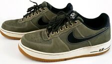 Nike Air Force 1 Low Olive Black Gum Light Brown   Shoes 488298-206 Size 10.