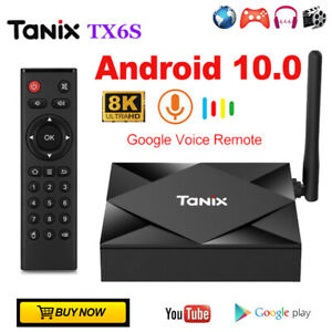 Tanix TX6S Android 10.0 Pie Smart TV Box 8GB/32GB/64GB ROM Ultra HD Media player