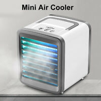 AU_ Portable Mini Air Conditioner Cooler Home Office Personal LED Light Cooling
