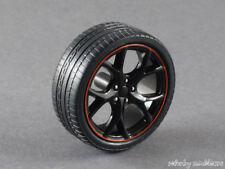 1/18 Ebbro Honda Civic Type R FK2 Satz Felgen - schwarz mit rotem Rand - 141588