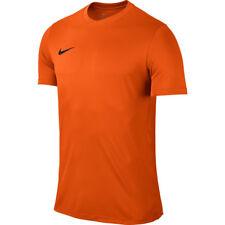 Mens Kids Nike Football Rugby Sports Match Training T Shirt Top Jersey Park VI Large 41/43 Orange