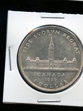1939 Canada Silver Dollar Canada's Parliament Building AB95