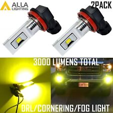 Alla Lighting H11 LED Fog Light Driving Lamp,Cornering Bulb,DRL Golden Yellow,2x