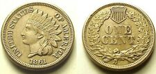 SWEET A/U 1861 INDIAN HEAD CENT-RAREST C/N DATE! 4 DIAMONDS! FREE SHIPPING!