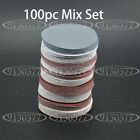 100pcs 3inch(75mm) Sander Disc Sanding Pad Polishing Pad Sandpaper Mix Set