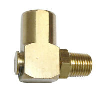 90 Degree Brass Swivel Fitting 1/4 Inch Female x 1/4 Inch NPT Male FS14