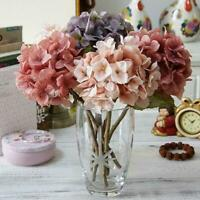 Artificial Hydrangea Silk Flowers Fake Bridal Bouquet Wedding Party Home Decor