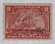 "Travelstamps: 1898 Us Stamps Scott #R164 ""Battleships "" Used Ng Pen Cancel"