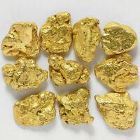 5 Pepitas De Oro Natural De Alaska Con Certificado Autenticidad 23 Nugget Pepita