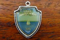 Vintage sterling silver LAKE MINNETONKA MINNESOTA STATE TRAVEL SHIELD charm #E25
