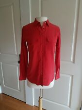 Equipment Femme Women's Blouse 100% Silk Red Button Up Extra Small