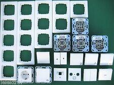 Gira System55 Steckdose  Schalter / Wippe / Rahmen reinweiß glänzend nach Wahl