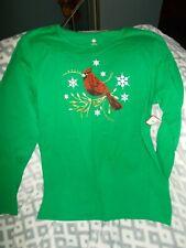 Christmas Cardinal   Long Sleeve Tee T-Shirt Brand New size Lg