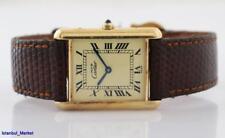 Cartier Paris Tank Argent Gold Color Ladies Wristwatch
