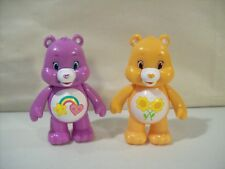 """LOT OF 2 CARE BEARS PVC 3"""" ACTION FIGURES BEST FRIEND BEAR & FRIEND BEAR JAKKS"""