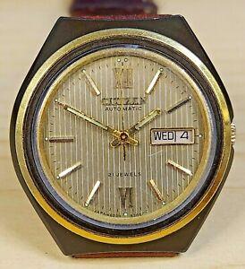 Vintage Citizen Automatic Watch 8200A,Leather Strap