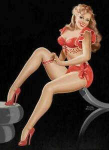 Peter Driben Pin Up Girls This lovely lady Giclee Paper Print Poster